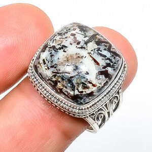 Astrophyllite - Russia Gemstone 925 Sterling Silver Fine Art Ring s.8 TR3723-167