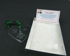 DRLPS 2003 Crystal Ornament DeTour Reef Lighthouse Preservation Society