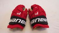 "Used Bauer Supreme TotalONE 1S Pro Stock Devils 14"" Hockey Gloves! MX3! 1X"