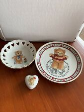 Enesco Lucy And Me 2 Little Dishes & A Covered Trinket Box