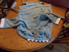 BABY STEPS BLUE HOODED SHARK BABY/TODDLER BATH ROBE