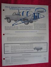 1981 BROYHILL SKID MOUNTED TRUCK PICKUP SPRAYING EQUIPMENT BROCHURE / PRICELIST