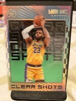 "2019-20 Illusions LeBron James SP ""Clear Shots"" Acetate Emerald Parallel🏀Lakers"