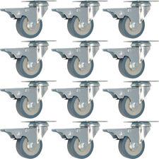 12 pack 2-Inch Swivel Lock Brake Polyurethane Plate Caster