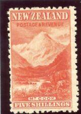 Nouvelle-zélande 1902 KEVII 5s vermilion mlh. sg 317b.