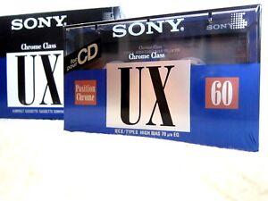 1 x SONY UX 60 (type II) [1992-1994]  Blank Audio Cassette Tape NEW sealed