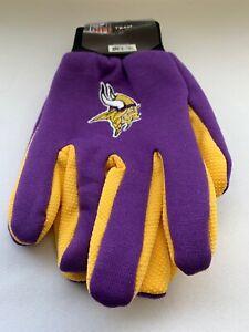 Minnesota Vikings NFL Team Gloves Utility 2tone Non-Slip Garden Outdoor Work
