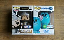 Funko pop Toys R Us Exclusive Flocked Sulley 385 Monsters Inc King Aragorn 534
