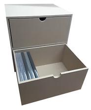 2 Drawer DVD Case Rack KX (insert for IKEA Kallax/Expedit to hold DVD Cases)