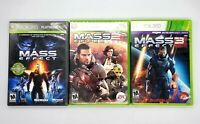 Mass Effect 1 2 3 Game Lot Bundle Xbox 360 Shooter EA Microsoft Video Games