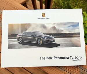 PORSCHE The New Panamera Turbo S Focused Power Hard Cover Prestige Brochure