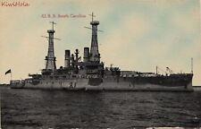 Postcard Ship USS South Carolina