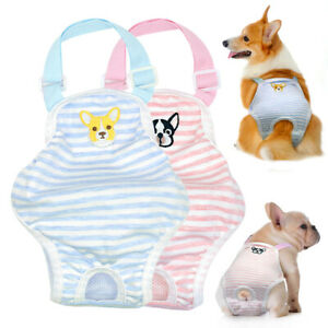 Dog Sanitary Nappy Diaper Physiological Pant Embroidery for French Bulldog Corgi