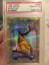 Kobe Bryant Rookie RC 1996 Topps Finest Atomic Refractor Gold PSA 10 1:288 Packs