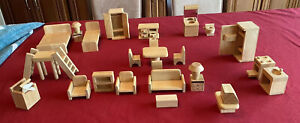 Plan Toys Classic Doll House Furniture Lot