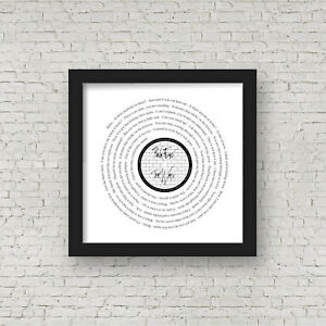 Pink Floyd - Comfortably Numb - Framed Song Lyrics - The Wall - Gift for Dad