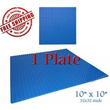 For LEGO, 1 Blue 10x10-inch 32x32-stud Brick Building Base Plate