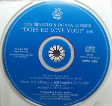 DONNA SUMMER & LIZA MINNELLI - DOES HE LOVE YOU? - US Promo Cd Single - gently