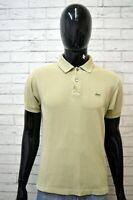 Polo LACOSTE Maglia Uomo Maglietta Taglia 4 Shirt Manica Corta Cotone Man Verde