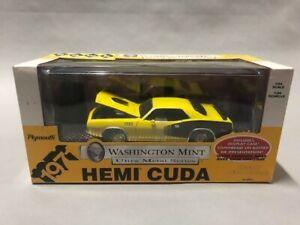 HAWK Washington Mint Ultra Metal Series 1971 Plymouth Hemi Cuda 1:24 Die Cast