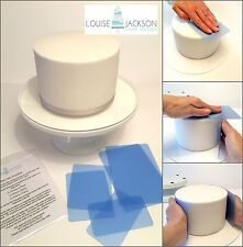 FLEXI CAKE SMOOTHER SET 6 PIECE BLUE for sharp edges and a perfect finish