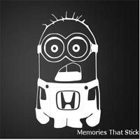 HONDA MINION Funny Car Window Bumper JDM EURO Novelty Vinyl Decal Sticker