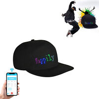 LED Display Baseball Cap Fashion Cool Hat Screen Light Wireless Bluetooth APP