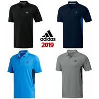 adidas 2019 Mens Ultimate 365 ClimaCool Solid Short Sleeve Golf Polo Shirt