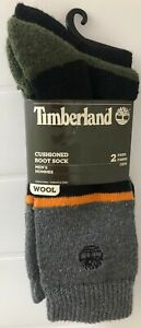 Timberland Cushioned Wool Boot Socks 2 Pairs One Size
