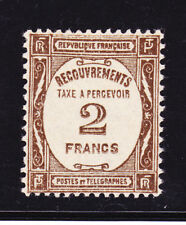 FRANCE TAXE N°  62 * MLH neuf avec charnière, TB, cote: 180 €