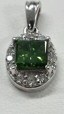 14k gold pendant with diamonds 0.92ct Gre princess vintage& antique fine jewelry