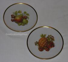 Vintage Lot of 2 Porcelain Fruit Plates Bavarian Germany Golden Grown E&R Marked