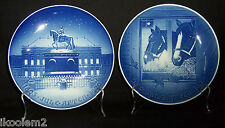 B & G 1970 & 1975 Jubilee Christmas Plates Amalienborg & Christmas In The Stable