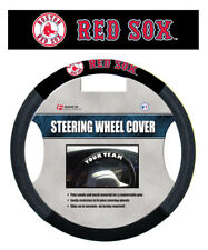 BOSTON RED SOX MESH SUEDE CAR AUTO STEERING WHEEL COVER MLB BASEBALL