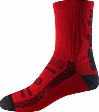 "Fox Racing Trail 8"" Sock: Bright Red SM/MD"