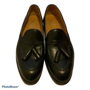 Crockett & Jones Mens Cavendish  Tassel Black Leather Loafer 7.5 E RRP £550..