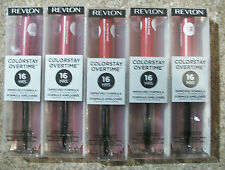 Lot of 17 Revlon ColorStay Overtime Lip Color w/Topcoat. See Discription