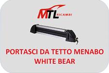 PORTASCI DA TETTO MENABO WHITE BEAR 4-4 PAIA DI SCII O 2 SNOWBOARD CON SERRATURA
