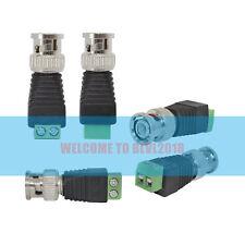 50PCS BNC connector Coax Cat5/Cat6 To Camera CCTV Video Balun Coaxial Screw