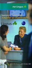 Aer Lingus Timetable  March 25, 2001 =