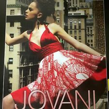 Jovani Red White Print Silk Prom Evening Special Occasion Dress s10.$400.00