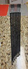 Set of 7 PING Alta CB regular flex graphite iron shafts with align grips .  .355