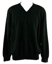 Banana Republic Long Sleeve V Neck Merino Wool Pullover Sweater Mens M Green