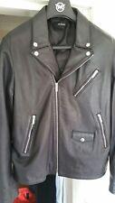 The Kooples. cuir noir veste de motard en Sz Medium. doux en peau d'agneau. Bnwt