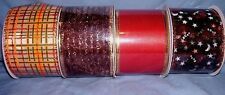 """lot of 4 bolts  2 1/2"""" wired Halloween / fall ribbon"""