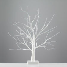 Modern Battery Operated 45cm Decorative White LED Tree Table Lamp Novelty Light