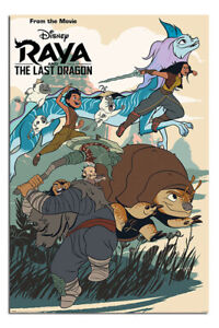 LAMINATED Raya And The Last Dragon Jumping Into Action Poster Official Licensed