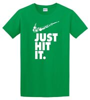 Nike Just Hit Funny Marijuana Weed Pot 420 GREEN T Shirt Just do it Festival Tee