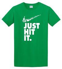 Nike Just Hit Funny Marijuana Weed Pot 420 GREEN T Shirt Just do it Festival Tee