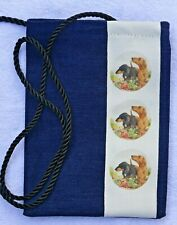 DACHSHUND HOUND DOG smooth FABRIC PHONE/GLASSES/FACE MASK POUCH SANDRA COEN